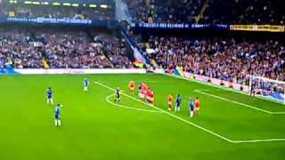 Alex amazing free kick - Chelsea 2-0 Arsenal 3.10.2010