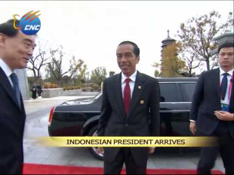 APEC: Indonesian President Joko Widodo Arrives at Int'l Convention Center, Yanqi  Lake