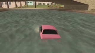 Psycho Dad Submerges Pink Car
