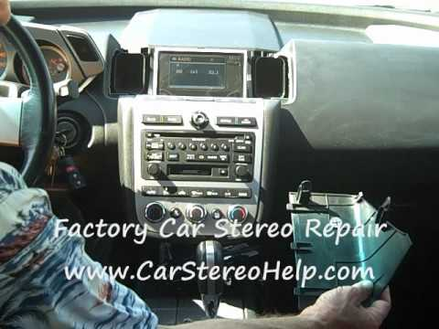 How to Nissan Murano Bose Car Stereo Radio Removal and Repair no audio or sound smoke burning coins