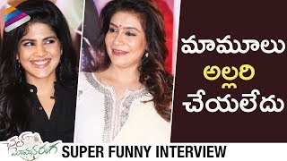 Megha Akash Makes Fun with Lissy and Haasini | Chal Mohan Ranga Team Funny Interview | Nithiin