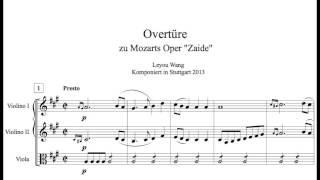 Ouvertüre zu Oper Zaide
