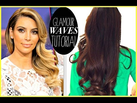 ★ KIM KARDASHIAN EVERYDAY OLD HOLLYWOOD CURLS | HOLIDAY HAIRSTYLES FOR LONG HAIR TUTORIAL & GIVEAWAY