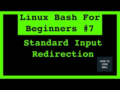 Linux Bash Tutorial 7 How To Redirect Standard Input