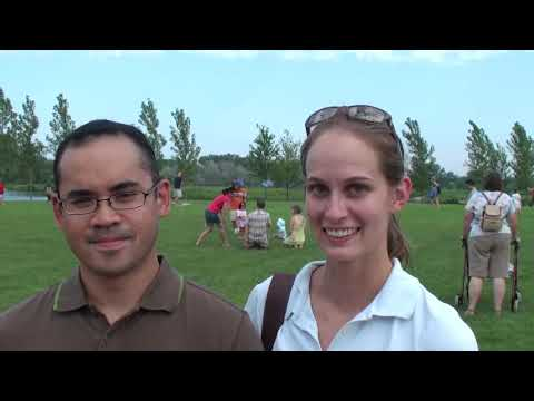 Ken and jennifer talk to Scott Fisher about the Chicago Botanic Garden Kite Festival Video