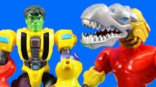 Transformers Toy Collection + Super Hero Mashers Mash With Hulk & Hulkbuster