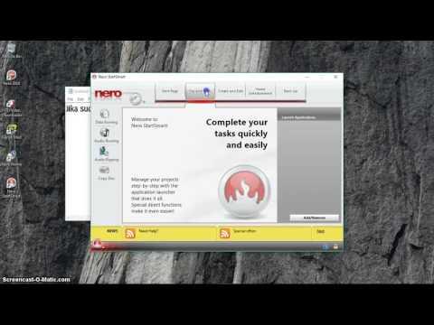 Cara Burn CD/DVD menggunakan software Nero