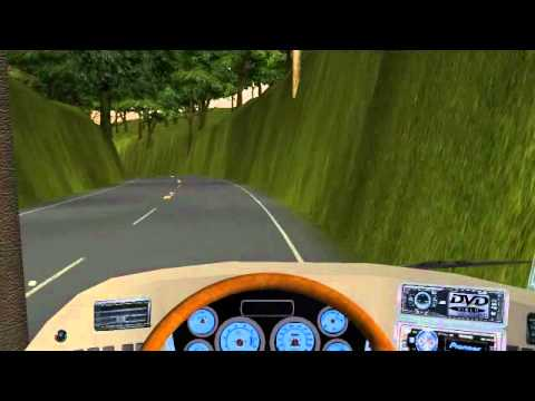 Gameplay 18 wheels Of Steel Haulin Mod Bus Colombia