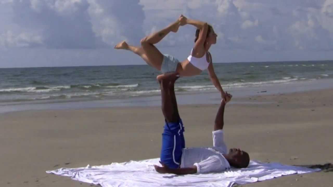 Acro Yoga- Advanced Demo with Dashama & Josiah - YouTube