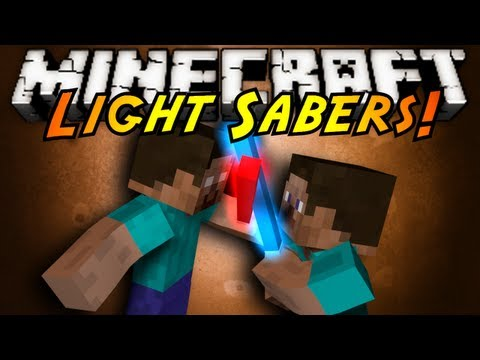 Minecraft Mod Showcase : LIGHT SABERS!