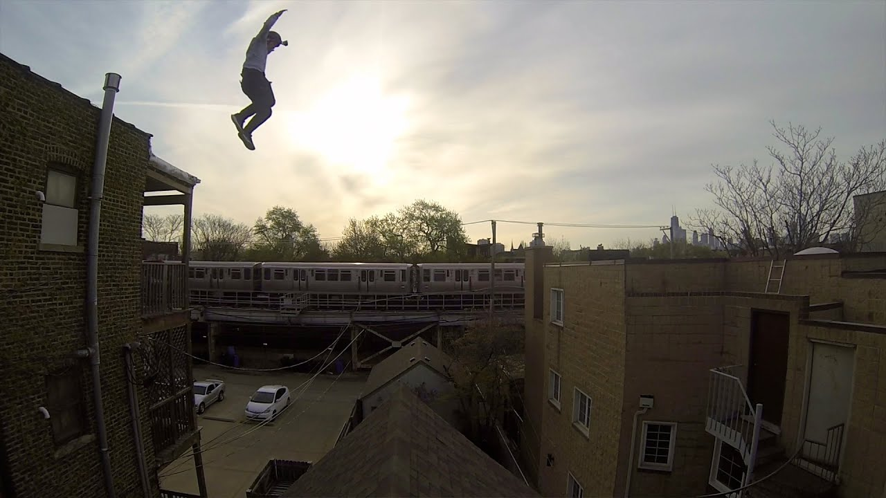 GoPro Of The Craziest Roof Jump Ever