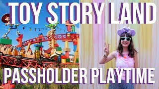 TOY STORY LAND Passholder Playtime - Hollywood Studios | Walt Disney World Vlog September 2018
