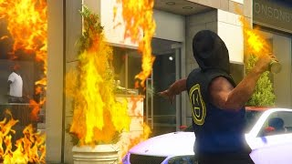 TRAPPING PEOPLE ONLINE IN BURNING BUILDINGS! - GTA 5 Online