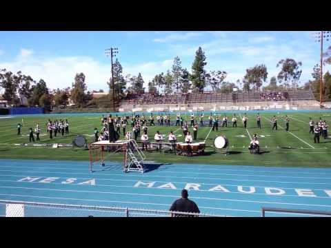 Fallbrook High School Marching Warriors at the Mira Mesa Band Competition November 2, 2013