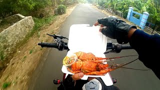 Funny vlog ...eat delicious LOBSTER in street