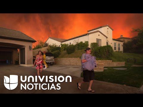 Batalla contra las llamas en California