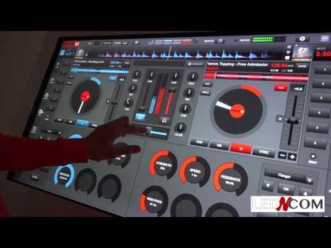 MIXER AVEC UNE TABLE TACTILE & VIRTUAL DJ - Led and Com Vente & Location