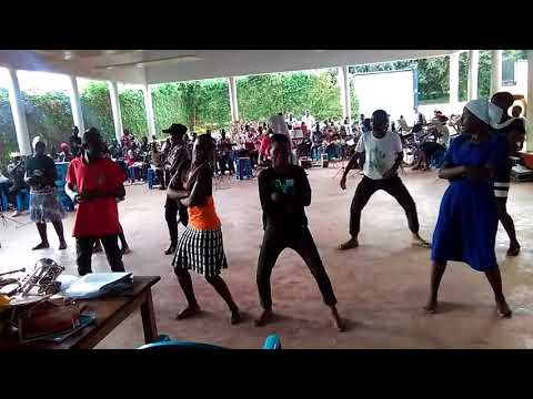 Mbale schools band and dancers
