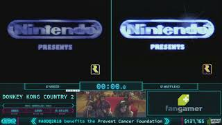 Donkey Kong Country 2: Diddy's Kong Quest by V0oid and waffle42 in 54:12 - AGDQ 2018 - Part 25