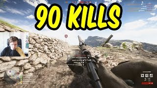 90 KILLS! - Battlefield 1 w/Teo & Tortilla