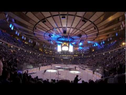 New York Rangers 2013 Home Opener Player Introductions