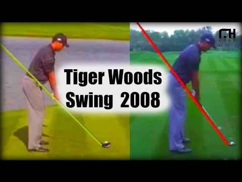Rare Footage of Tigers Woods Golf Swing from 2008: Hank Haney Era