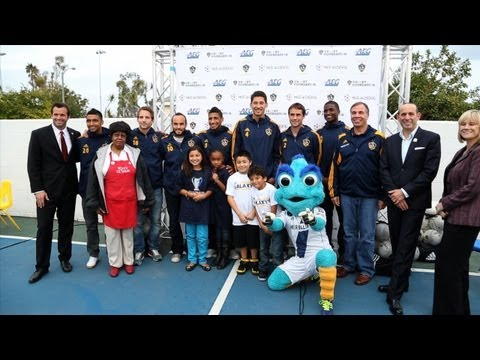 Landon Donovan, Bruce Arena, and the LA Galaxy team up with the Boys and Girls Club