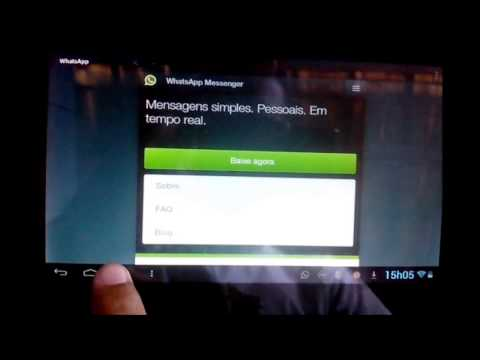 Como instalar o Whatsapp no Tablet sem chip (Original)