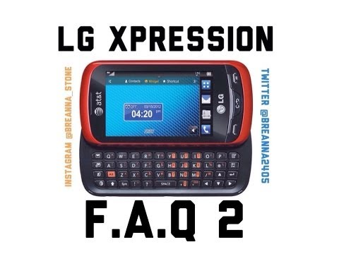 LG Xpression- Frequently Asked Questions 2