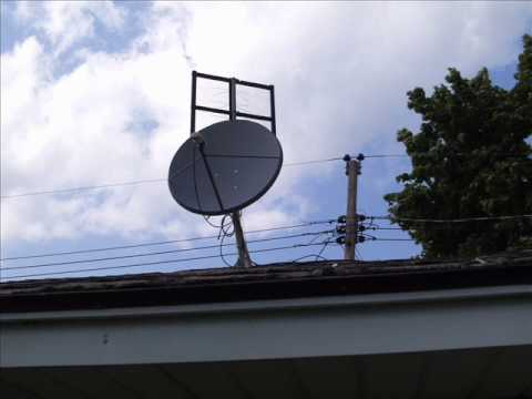 Free To Air Satellite  Off Air Antenna Combination