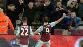 West Ham striker Andy Carroll wins Goal of The Month