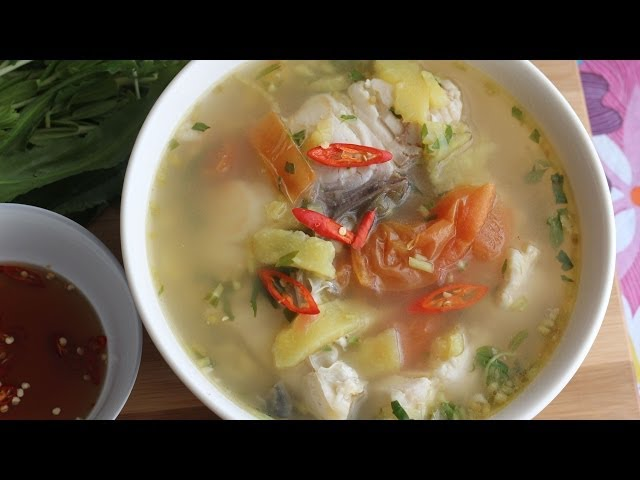 Canh Chua Thom Nau Ca (Vietnamese Pineapple with Fish Sour Soup)