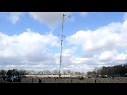 Demolition of shortwave antennas at Hrby Radio Station. 5