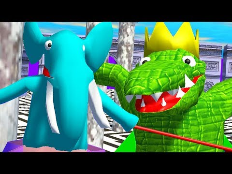 Elephant vs King Croc Olympics - Wild Animal Sports Day   Pungence