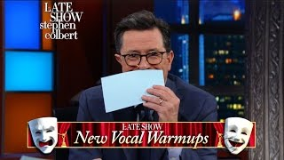 Allison Janney Tries The Late Show's 'New Vocal Warm-Ups'