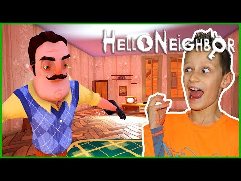 Hello Neighbor Challenge in the Dark with Sharer Fam!!