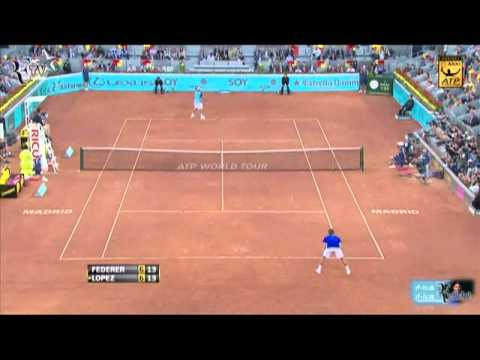 Roger Federer vs Feliciano Lopez - Mutua Madrid Masters 2011 (Round 2).mpg