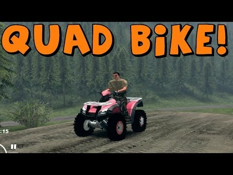 SpinTires   Mod Review   QUAD BIKE!   Download Link In Description