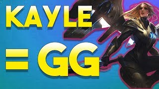 MY MOM SOLD ME FOR THIS CHAMP 100% BROKEN - Reworked Kayle Jungle Gameplay