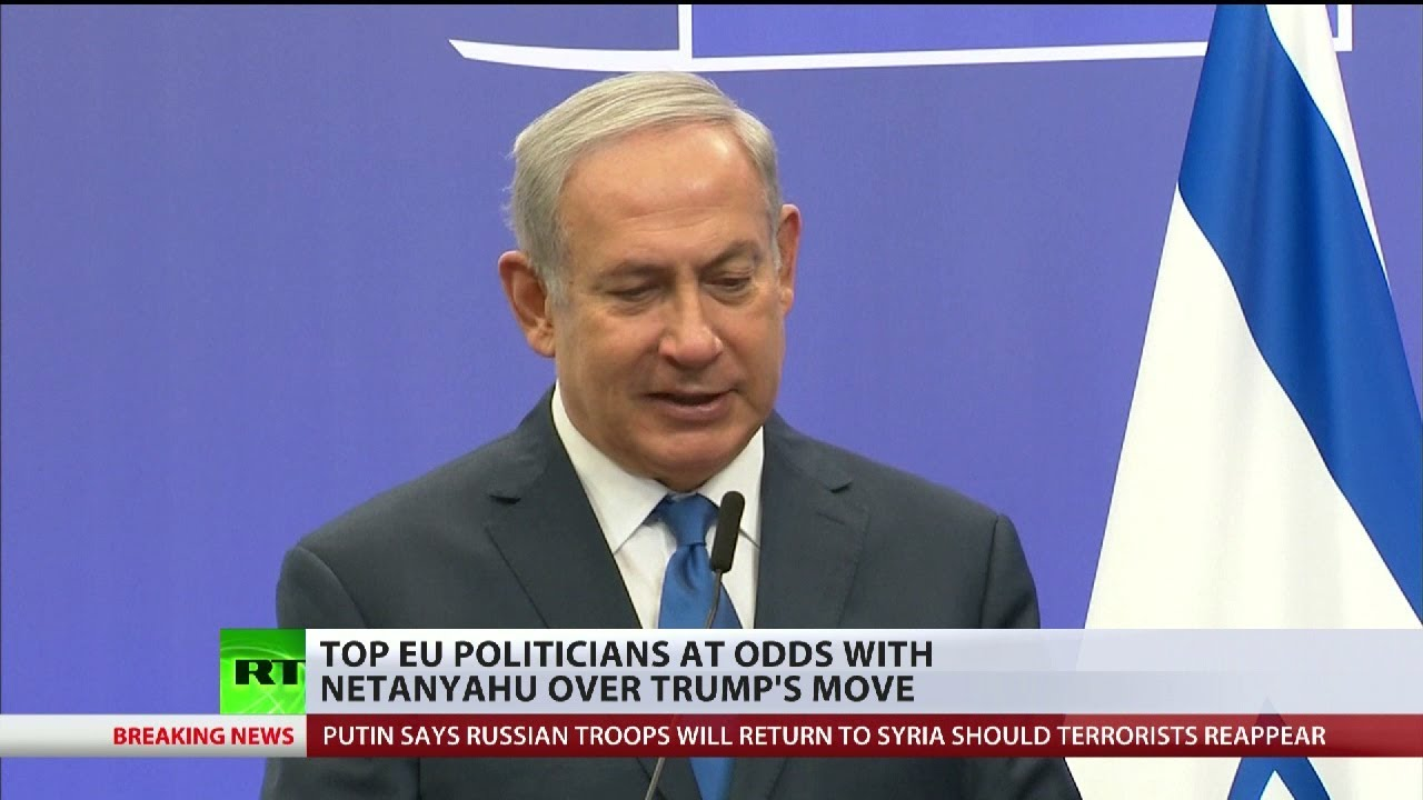 Top EU politicians are at odds with Netanyahu over Trump's move