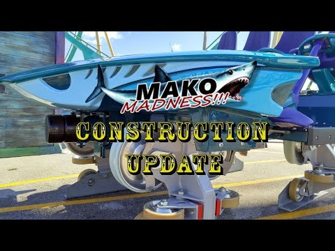 SeaWorld Orlando Mako Construction Update 2.16.16 MAKO TRAIN MEDIA DAY!