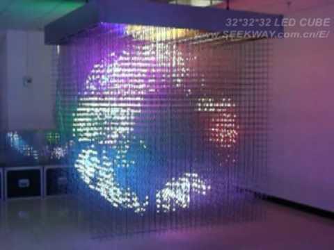 3D LED Cube(32*32*32=32768 pixels)