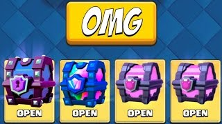 TWO LEGENDARY CARDS FROM CHESTS!?! :: Clash Royale :: LEGENDARY CHEST & SUPER MAGICAL CHEST OPENING