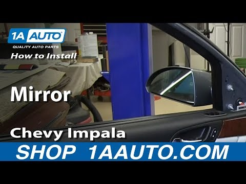 How To Install Replace Fix Broken Side Rear View Mirror 2006-12 Chevy Impala