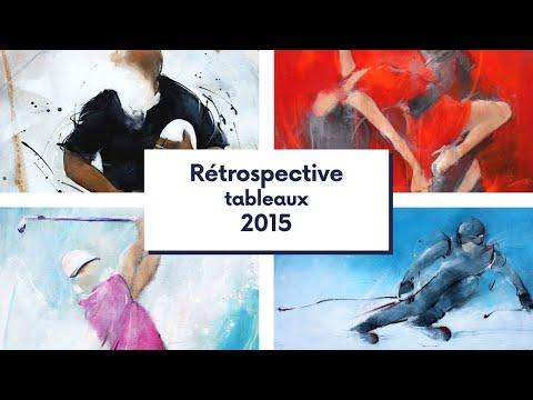 Retrospective en peinture de l'actualité sportive 2015 par Lucie LLONG
