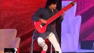 "Niladri Kumar playing ""Krazy kiya re"" over Zitar at India today Conclave 2014"
