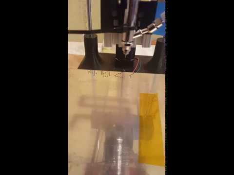Printing of magnetic field sensor using computer controlled airbrush