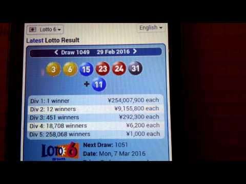 KEY COMBINATION TO WIN JAPAN LOTTO 6 ON MONDAY 7.03.16 J1049.