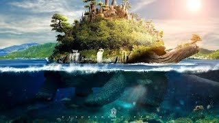 Tutorial  Photoshop   Underwater Turtle Island