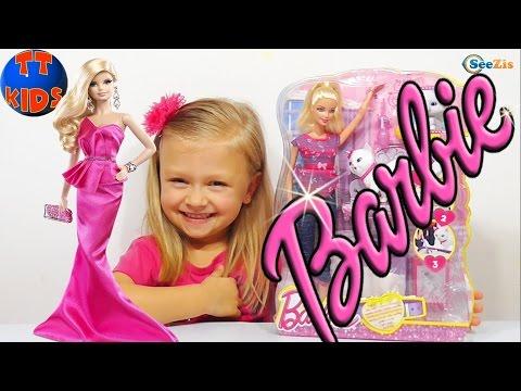 ✔ Барби. Распаковка новой куклы от Ярославы. Видео для девочек / Doll Barbie and Yaroslava ✔